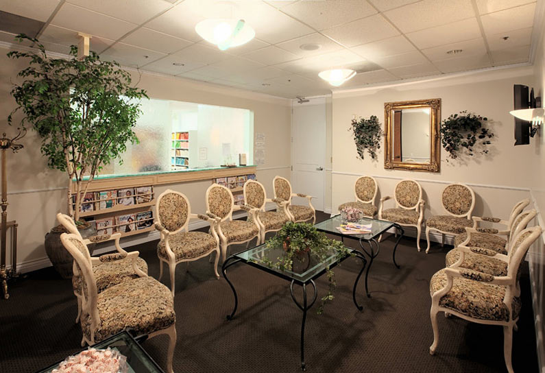 Reception and waiting area at Beverly Hills Dermatology Consultants